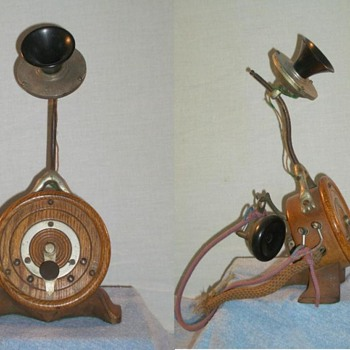 Shaver Dolphin Wood-Base Candlestick - Telephones