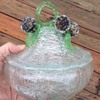 Unkown think Venitian glass sugurplum  silver foil bowl