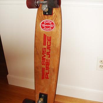 Vintage Sims Skateboard