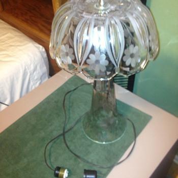 Antique Glass Bedside Lamp
