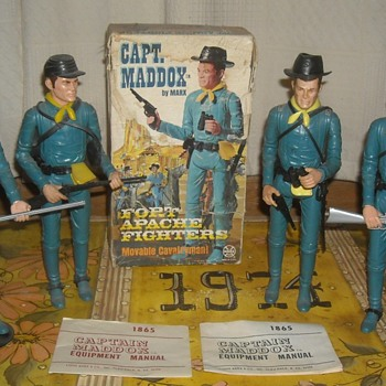 Marx Captain Maddox from the Fort Apache Fighters - Toys