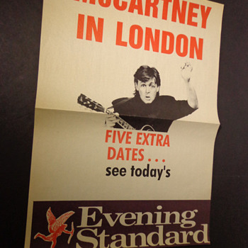 Paul McCartney-news poster-1990 - Music Memorabilia
