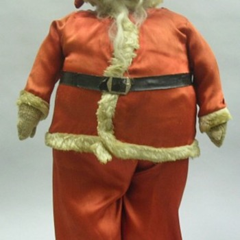 antique storefront santa - Christmas