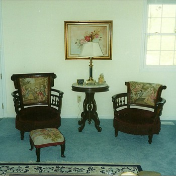 Early 1800s his and her chairs - Furniture