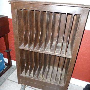Upright Rolling Shelf with Slats Filing Cabinet?