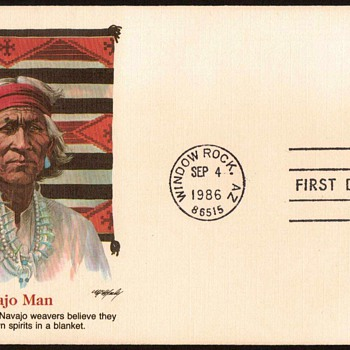 "1986 - ""Navajo Art"" Stamp First Day Cover - Man"