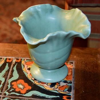 Matte Aqua Art Pottery Vase - Pottery