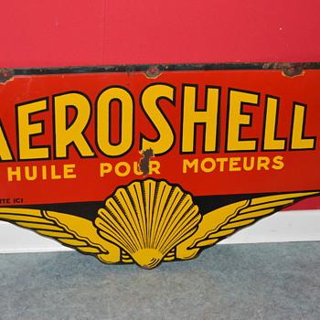 aeroshell porcelain sign - Advertising