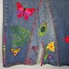 60s Levis 501 BIG E Redline Single Stitch HIPPIE EMBROIDERED Denim Skirt