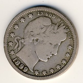 U.S. Barber Quarter (1899)