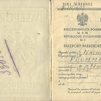 pre-1939 Polish passport from Danzig