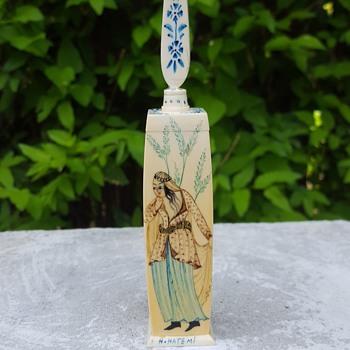 Turkish miniature hand-painted bottle - Bottles