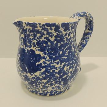 Blue & White Sponge Wear - Pitcher - Pottery