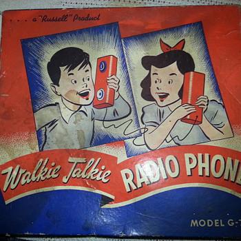 "wooden ""walkie talkie radio phone"" - Toys"