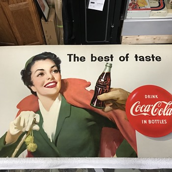 Coca Cola cardboard insert 1956  - Advertising