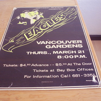The Eagles concert poster