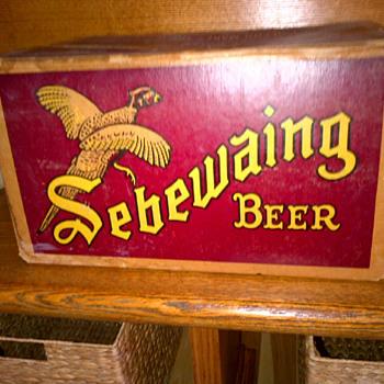 vintage Sebewaing Beer case - Breweriana