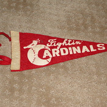 Fightin' Cardinals mini-pennant...