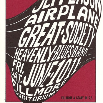 Jefferson Airplane, Great Society, BG-10, 1966 - Posters and Prints