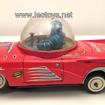 KO Yoshiya Space Patrol Car Tin Vintage Toy Japan - Toys