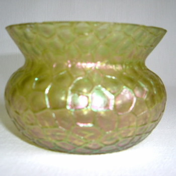 Tiny Martelé Bowl - Art Glass
