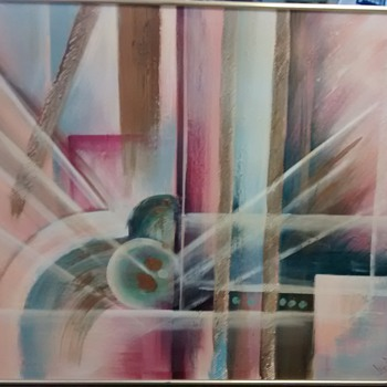 Lee Reynolds Abstract oil painting