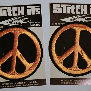 Peace symbol embroidered patches
