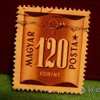 Vintage Magyar Posta 120 Forint Stamp ~ Used