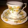 Queen Anne Bone China Tea cup & saucer Trio