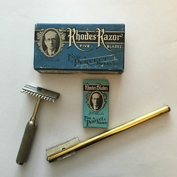 J.B. Rhodes razor & blades 1931