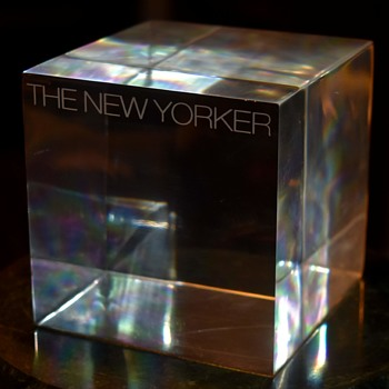 Large Acrylic Cube - The New Yorker - Fine Art