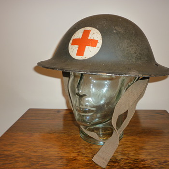 British WWII Civil Defence Medic steel helmet