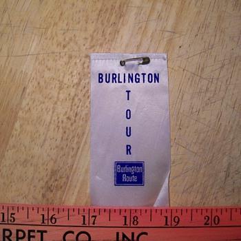 Burlington Railroad ribbon - Railroadiana
