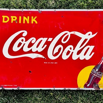 "Just picked up another ""yellow dot"" Coca Cola sign - Coca-Cola"