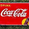 """Just picked up another """"yellow dot"""" Coca Cola sign"""