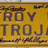 Vintage 1960's Troy High School N.Y. License Plate