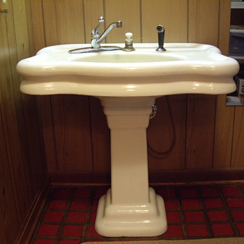 Standard Pedestal Sink I Saved From The Landfill