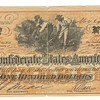 Confederate States of America 100 dollars and 5 dollars
