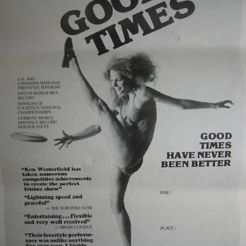 Goodtimes Professional Frisbee Show Poster 1979