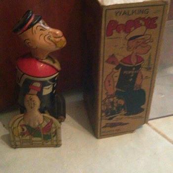"""1930's """"Marx"""" Popeye Windup Toy w/ box"""