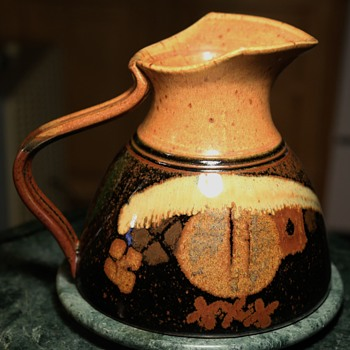 Studio Pottery Pitcher - by Richard Stafford, Eagle Harbor Stoneware, Bainbridge Island, WA - Pottery