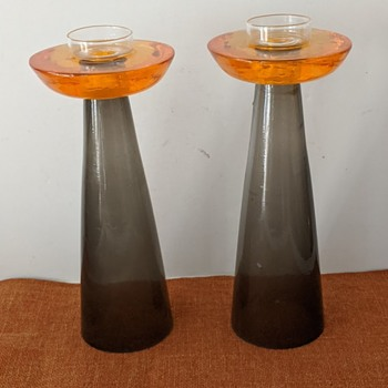 Modern, Mid-Century or Contemporary, Lucite Candlesticks  - Mid-Century Modern