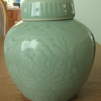 Chinese Green Celadon jar - Asian