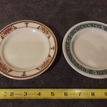 two small 'commercial china' plates with pretty patterns - China and Dinnerware