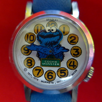 Circa 1980 Cookie Monster (animated head) Wristwatch