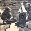 Winslow Homer engraved/inked plate