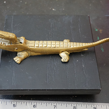 Brass Alligator Nutcracker