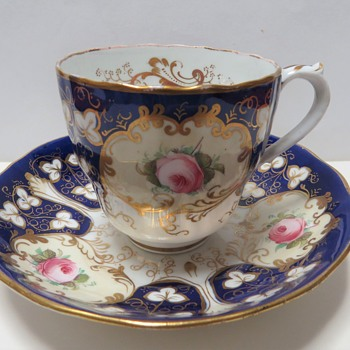 Antique Cup and Saucer - Marked 2144 in gold - China and Dinnerware
