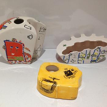 Retro 1950's vases/ashtrays? Italian? Conran? Designer? Trial pieces? - Mid-Century Modern