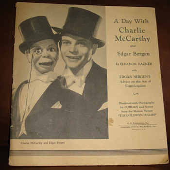 A DAY WITH CHARLIE Mc CARTHY AND EDGAR BERGEN - Books
